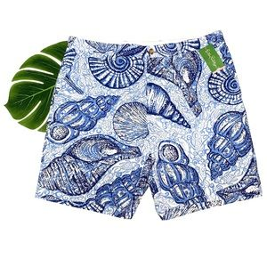 New Lilly Pulitzer Blue Shells Beaumont Shorts